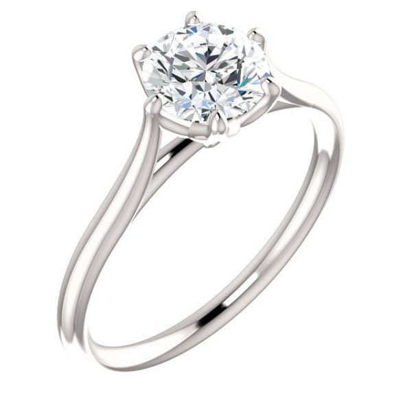 Classic 6 prong crown Ring