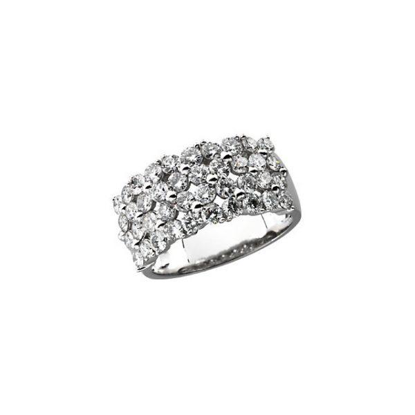 4 Row 2CTW Diamond Ring